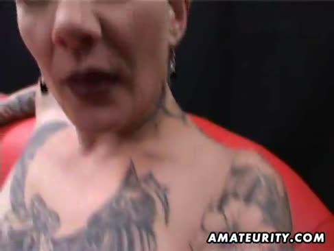 Fledgling inked blowage puma de casă cu cumshot